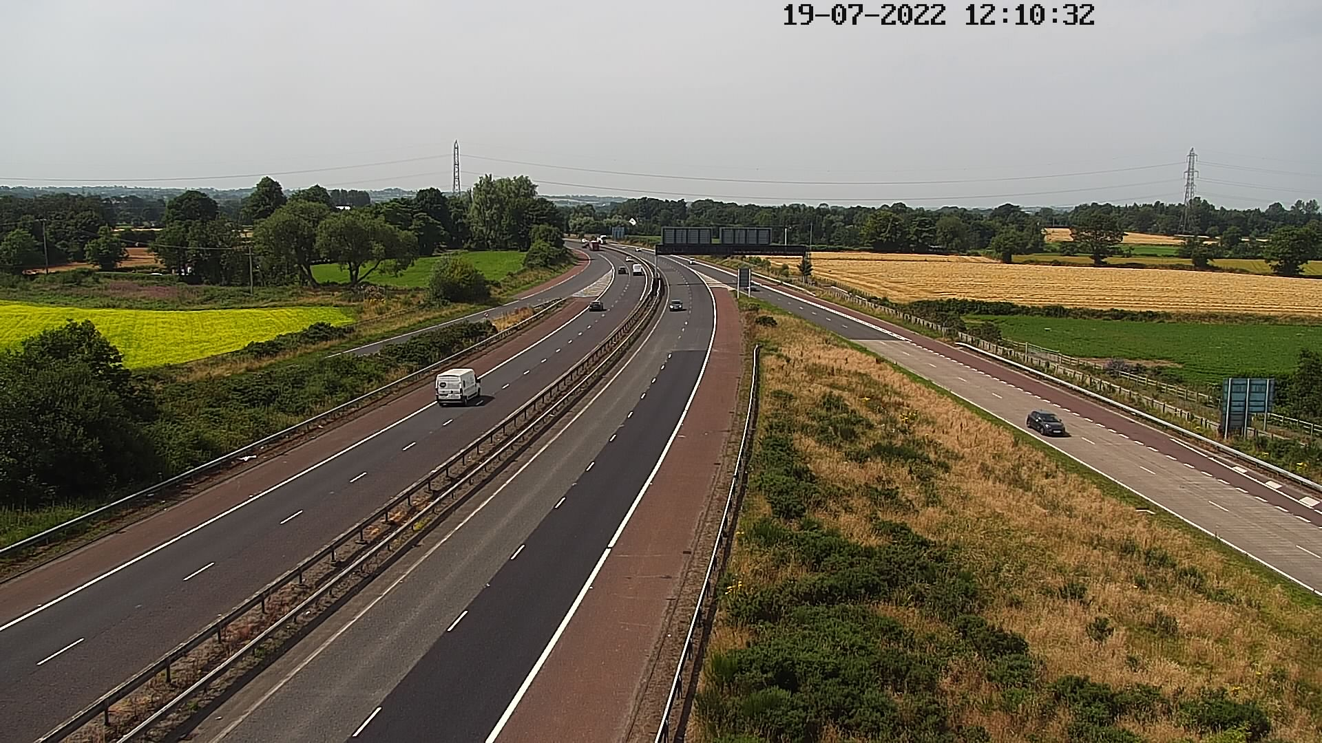 CCTV Camera image for M1 - Blaris - Jct 8