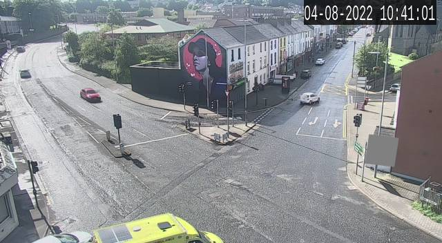 CCTV Camera image for Dales Corner/A6 Glendermott Rd - A2 ColumbraTerrace